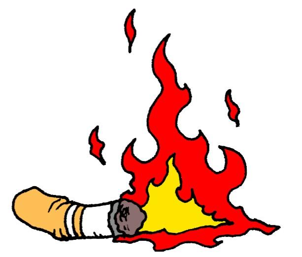 くわえタバコ炎上